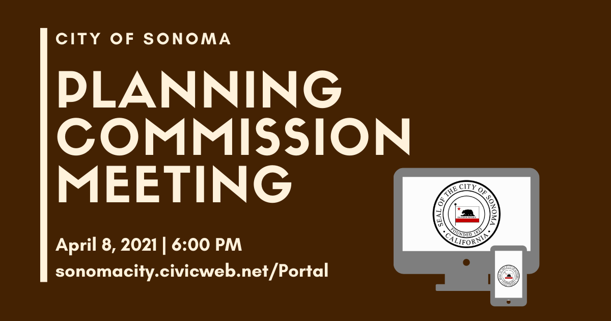 Planning Commission Meeting, April 8th