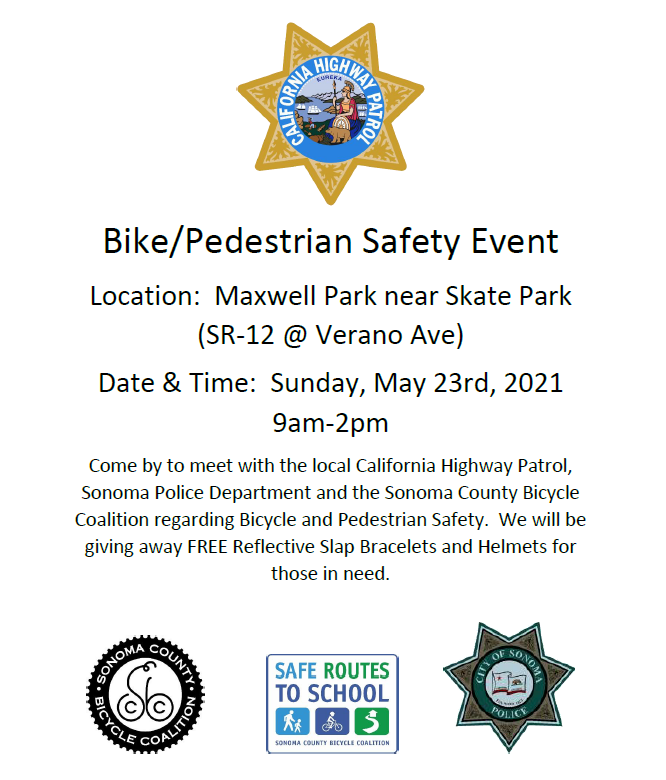 bike and pedestrian safety event flyer - english