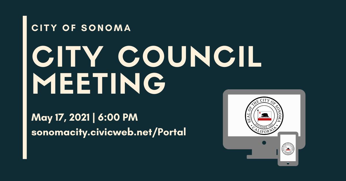 City Council Meeting May 17th, 6pm