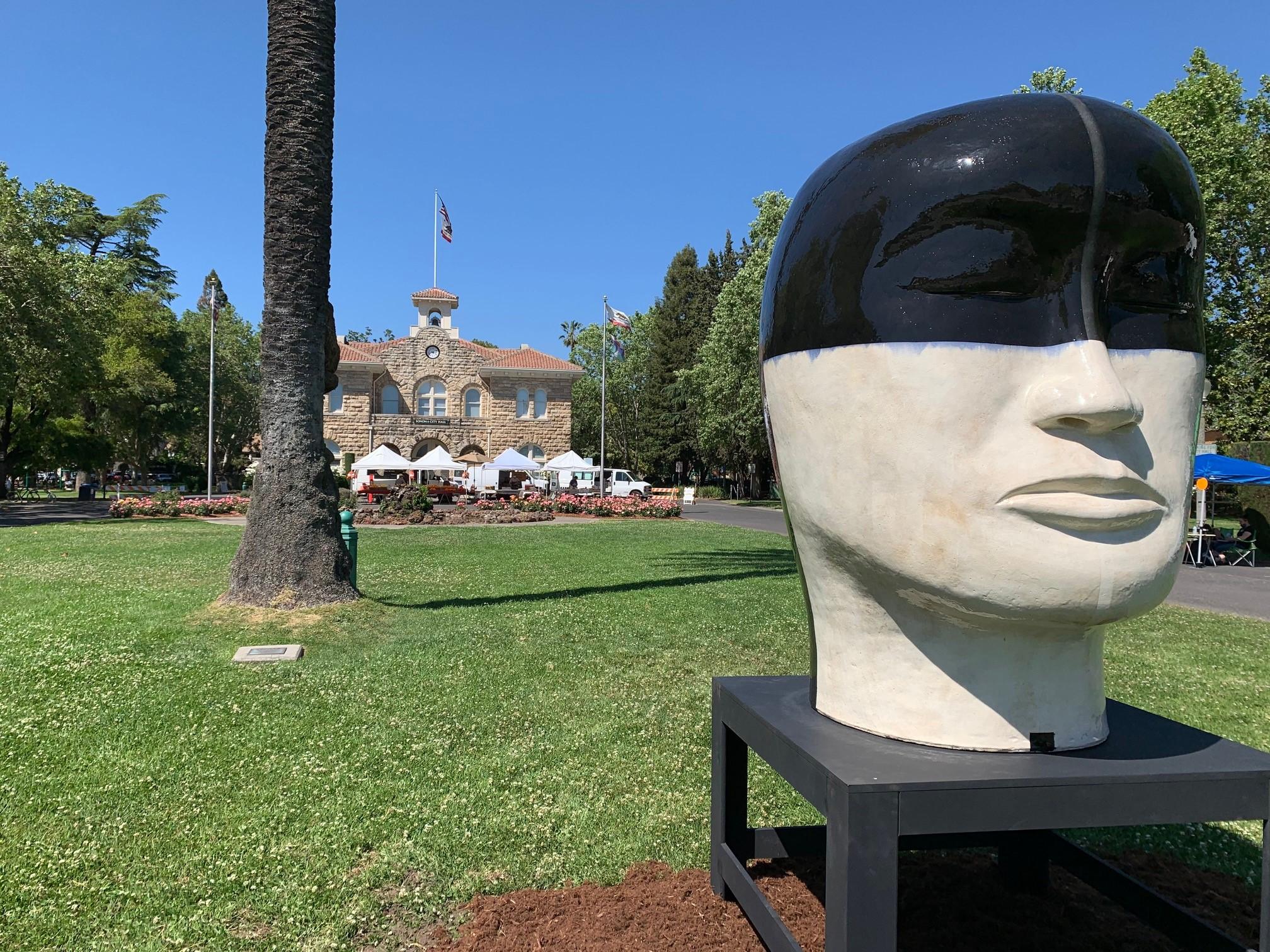 A delicate balance art exhibition at the Sonoma Plaza