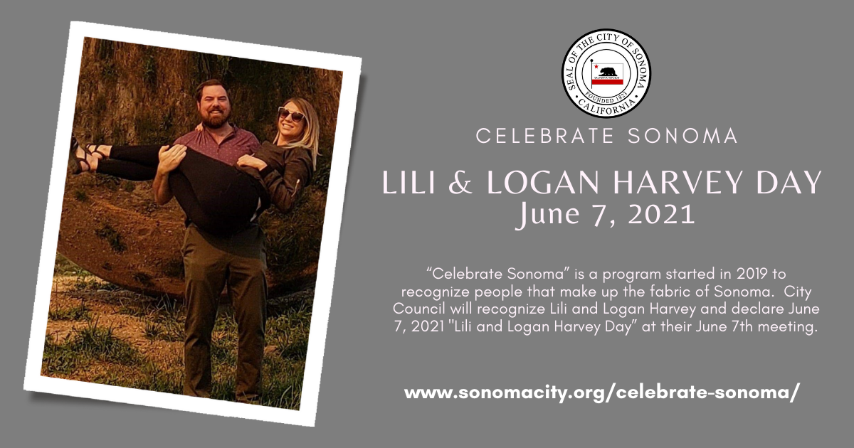Celebrate Sonoma, Lili and Logan Harvey Day is June 7th