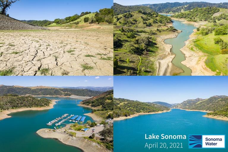 Lake Sonoma Levels