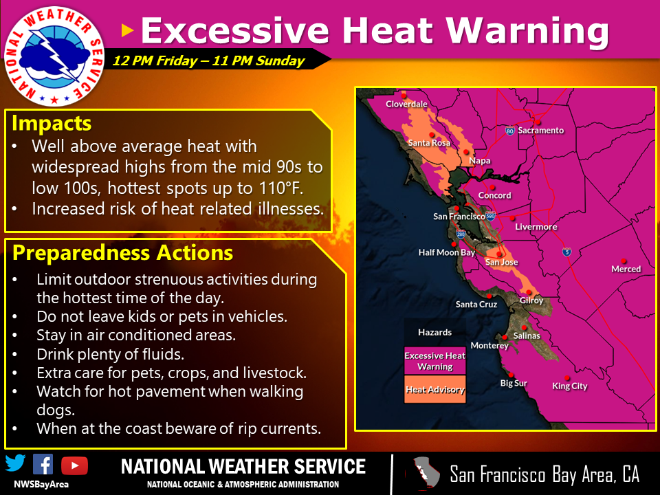 Excessive Heat Warning and Advisory