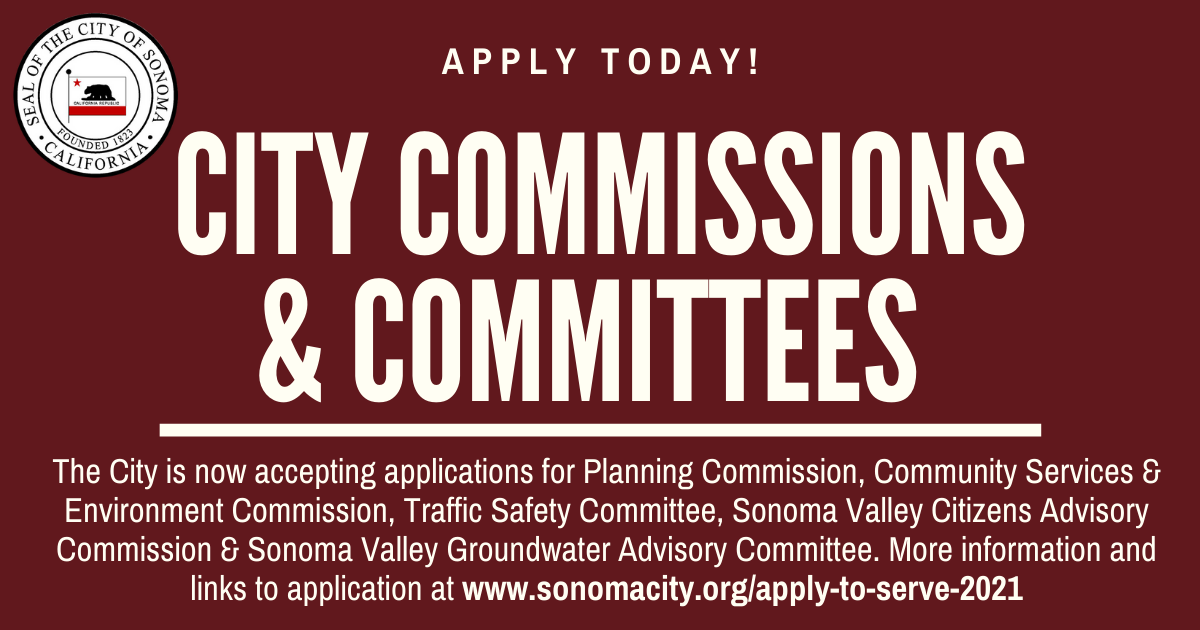 Apply to serve on a city commission or committee