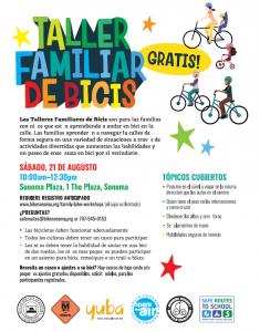 Bike Workshop Flyer, Spanish