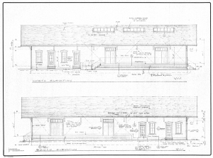 Depot Park Building Plans from 1978