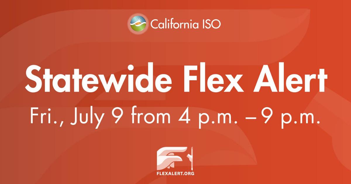 Statewide Flex Alert Friday 4-9pm
