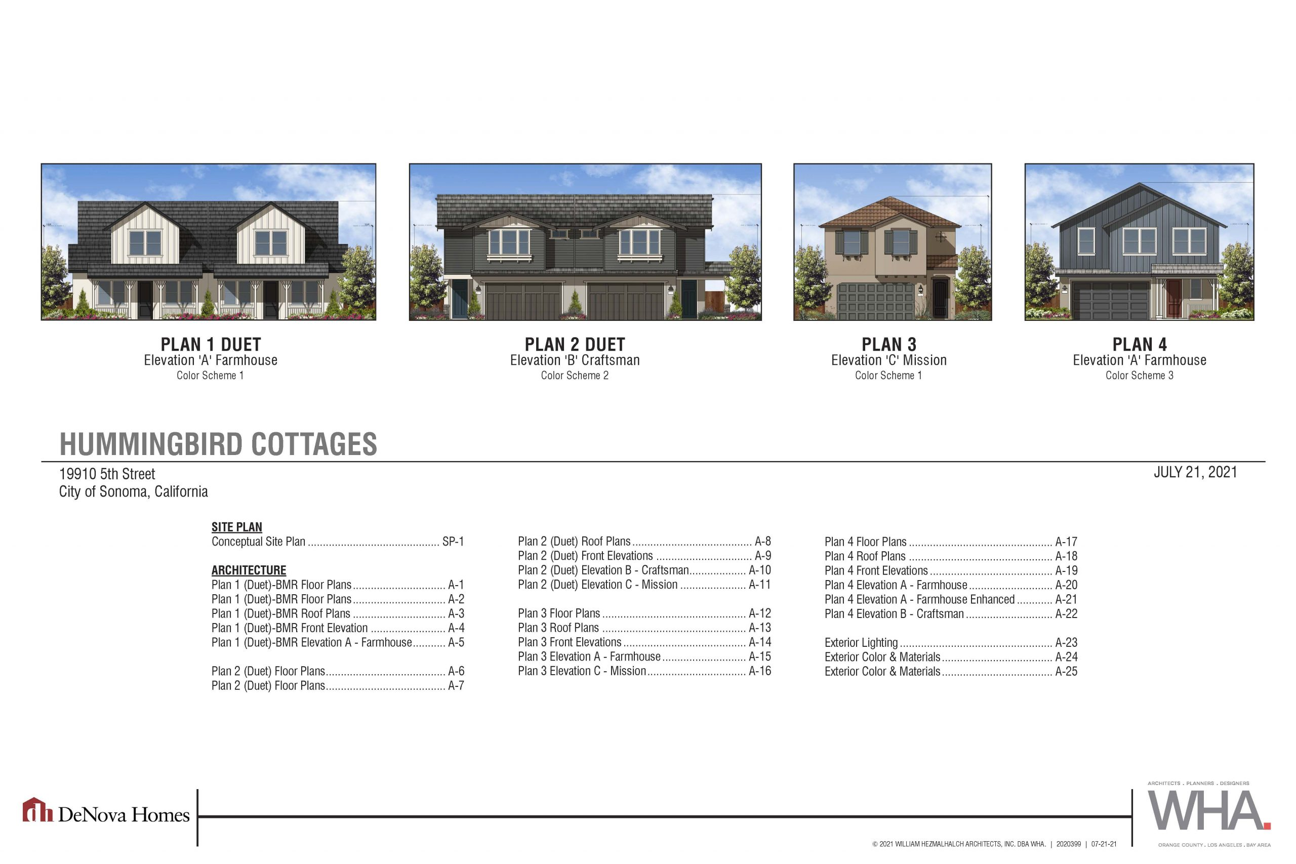 Picture of Hummingbird Cottages Plan Elevations