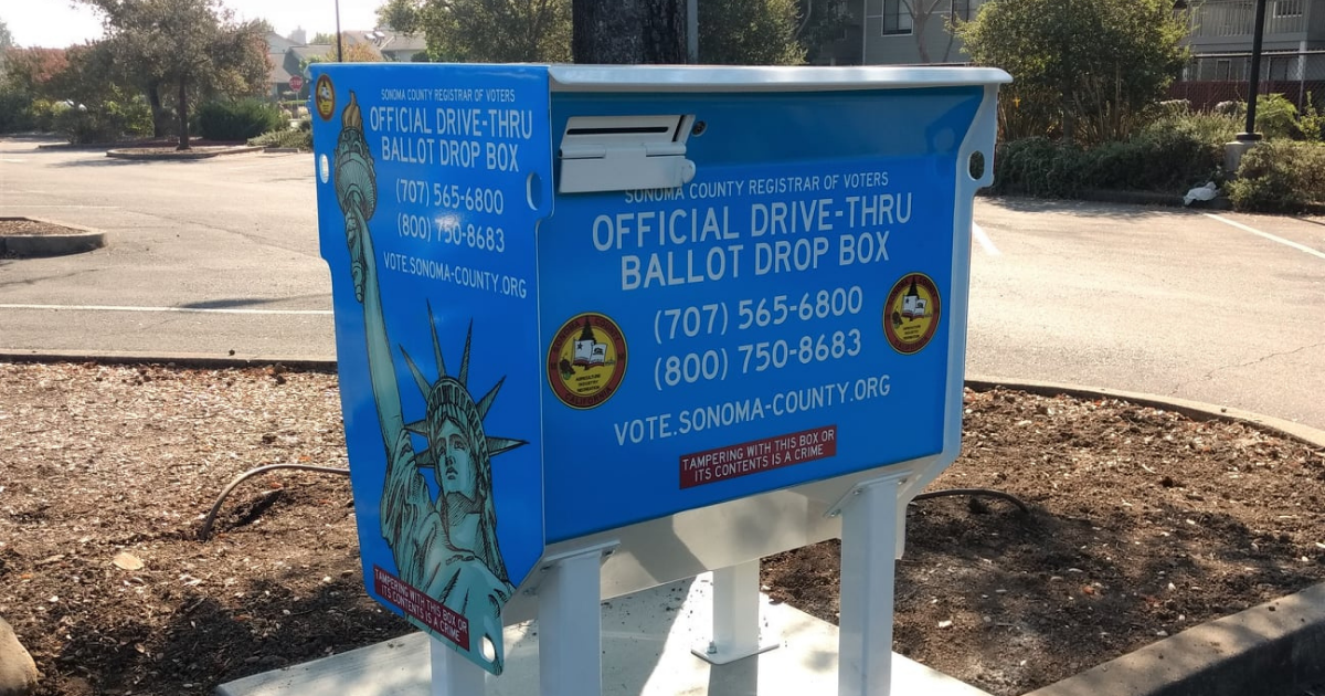 Drop Box at the Sonoma Valley Regional Library