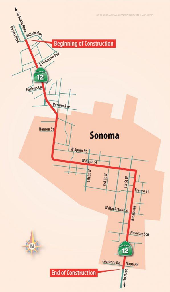 Caltrans project map