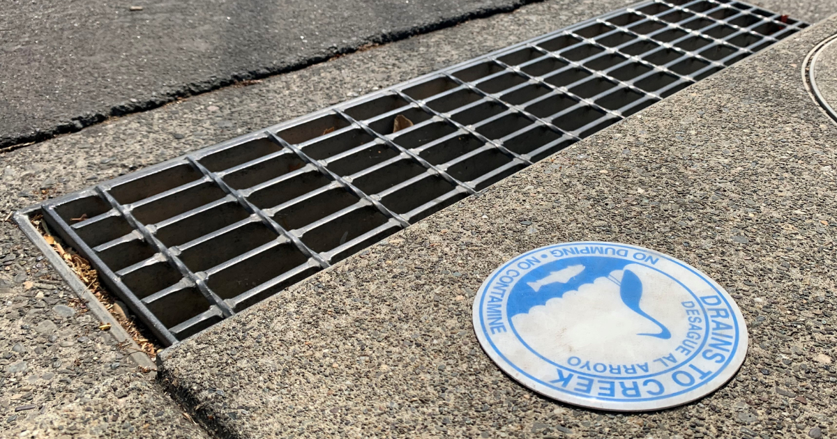 Storm drain on 5th Street West