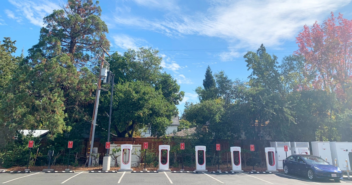 Tesla Charging Station Opens at the Sonoma Community Center