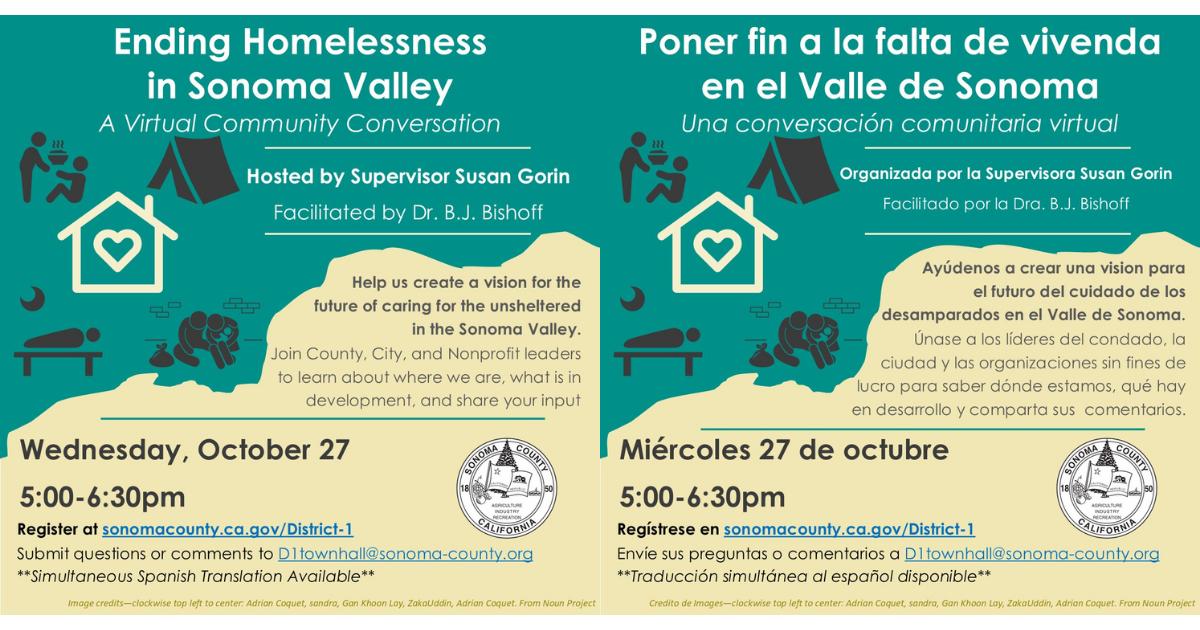 Ending Homelessness in Sonoma Valley
