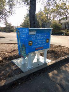 Ballot Drop Box at Sonoma Valley Regional Library