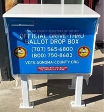 Official drive thru ballot drop box