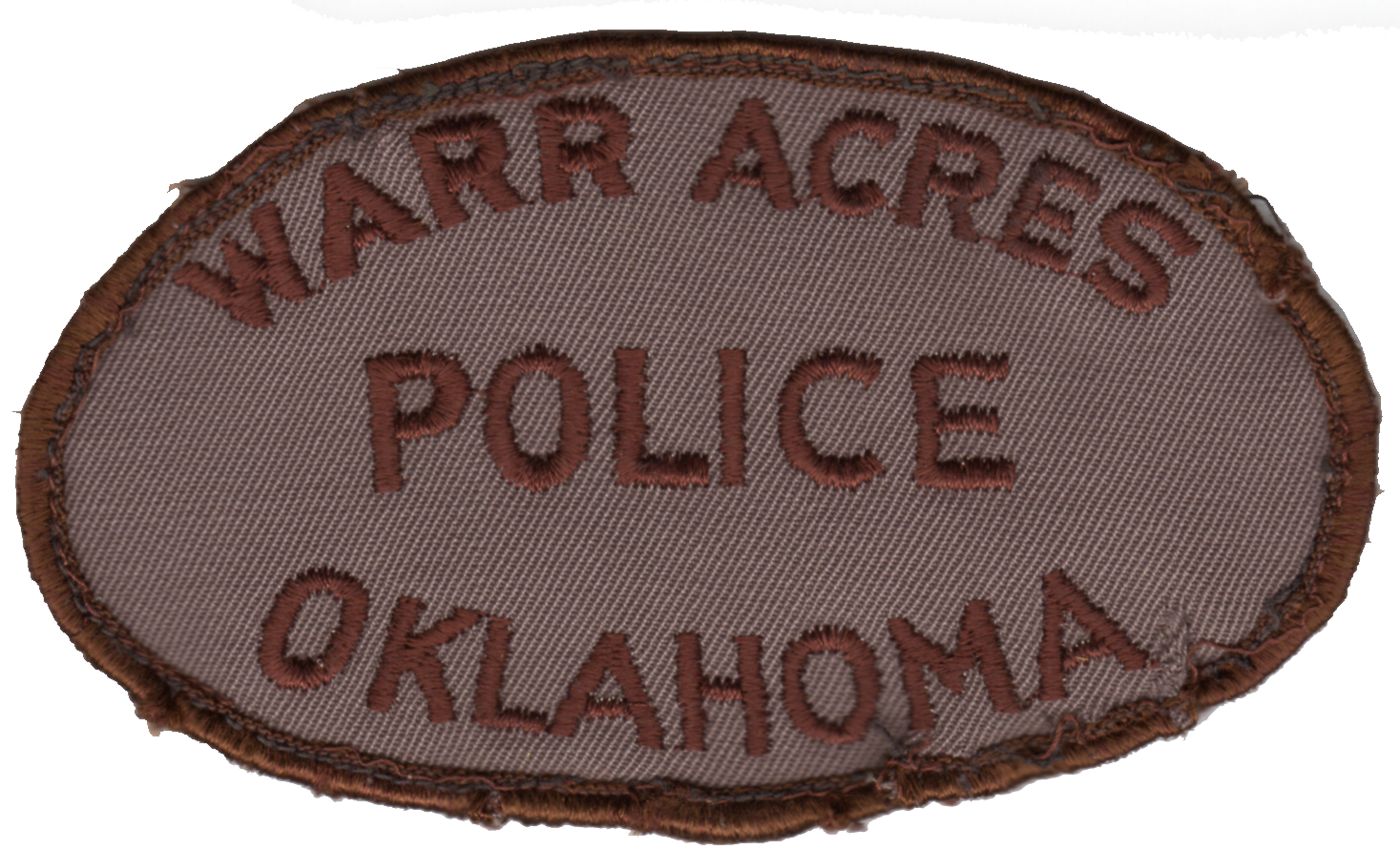 first Warr Acres Police patch