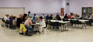 Senior citizens gather at the Community Center for activities hosted by the Salvation Army
