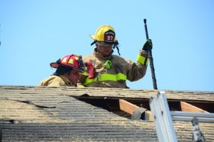 Fire Fighters on Roof