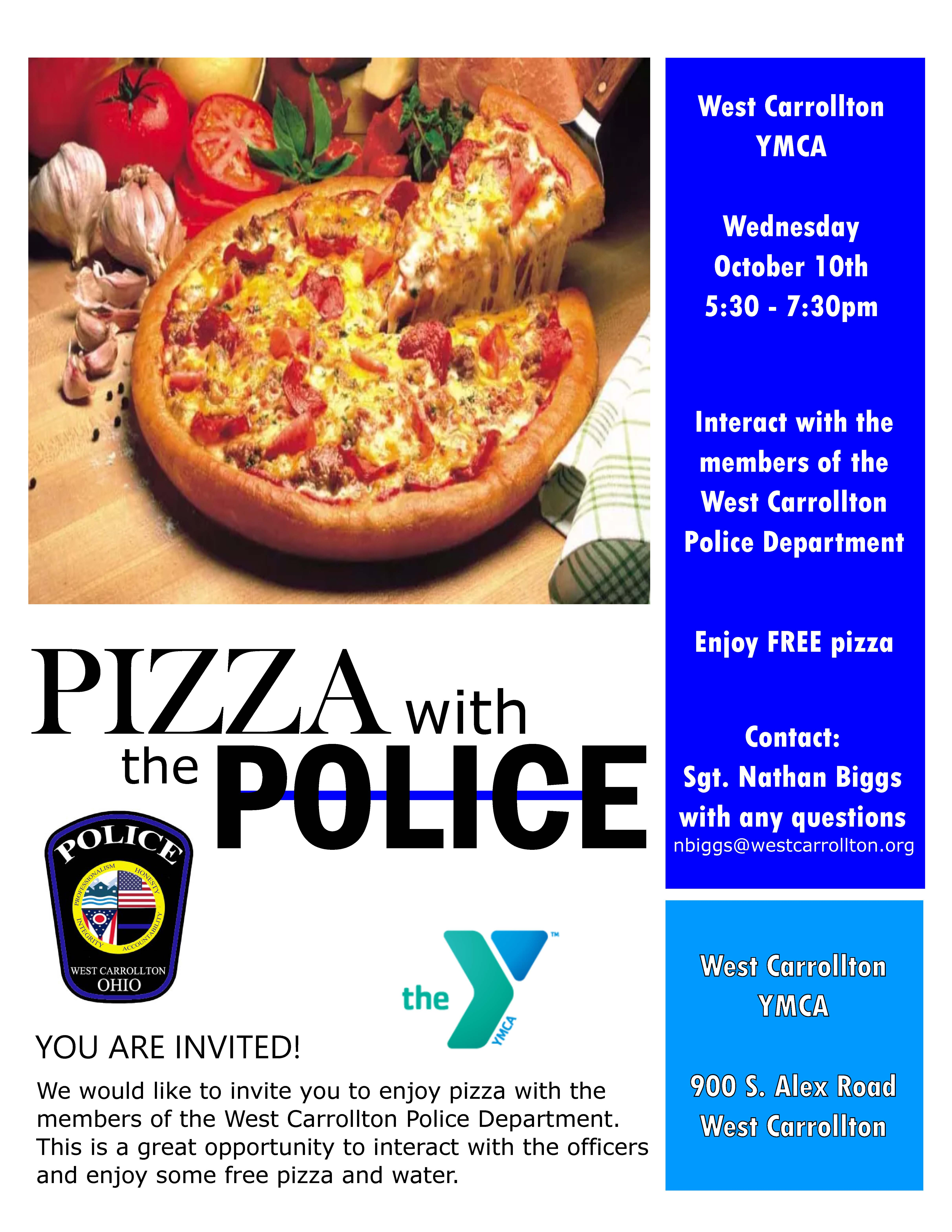 Pizza With Police Flyer