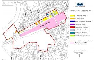 Carollton Centre TIF map