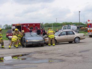 mock crash scene 2009
