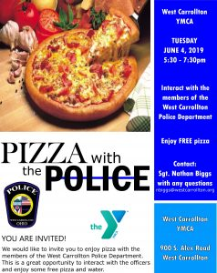 Pizza With the Police Flyer
