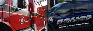 Fire & police vehicles
