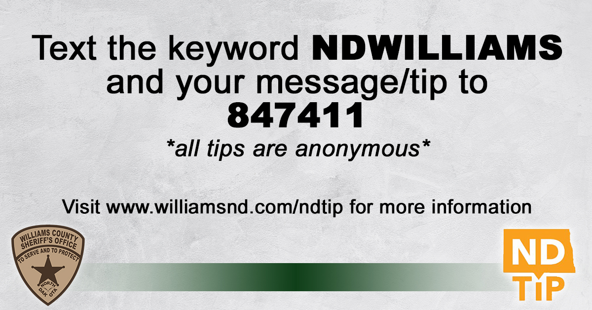 Logos with description for how to text an anonymous tip