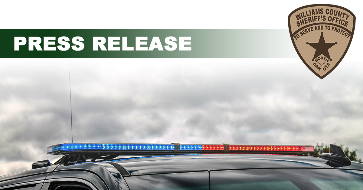 Patrol car with lights and text for Press Release