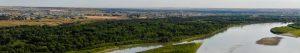 Aerial view of the Missouri River near Williston