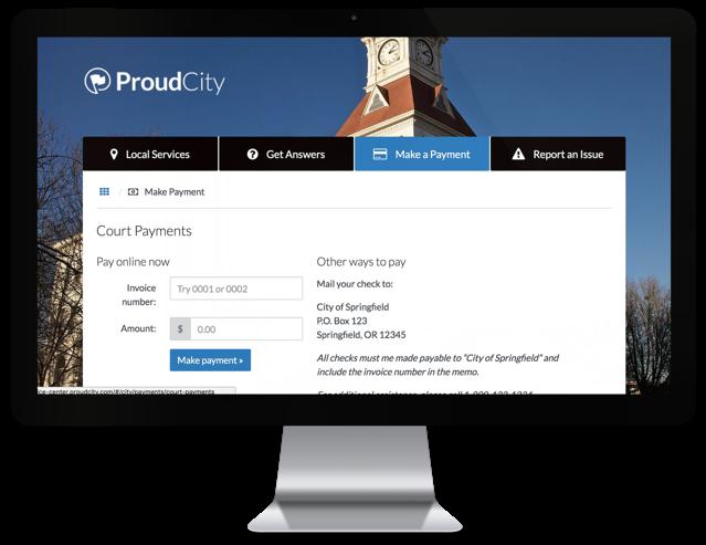 ProudCity Service Center