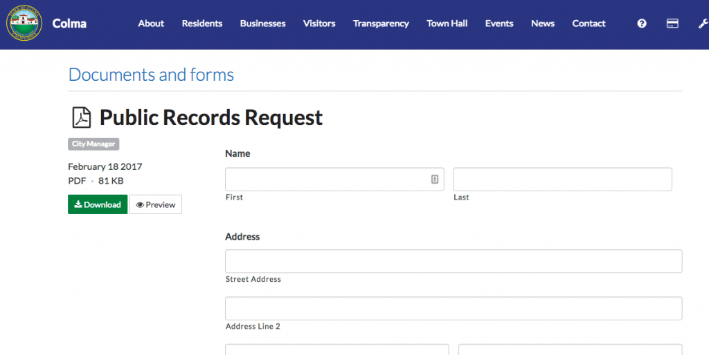 Public record requests