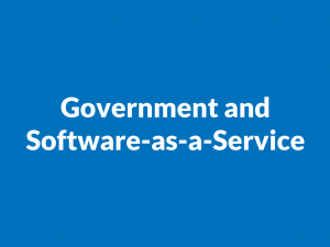 Government and software-as-a-service
