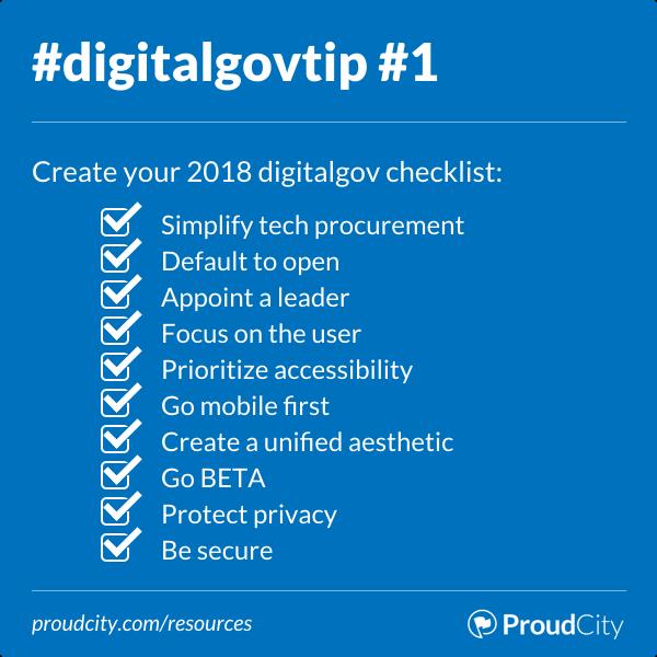 Create your 2018 digital government checklist
