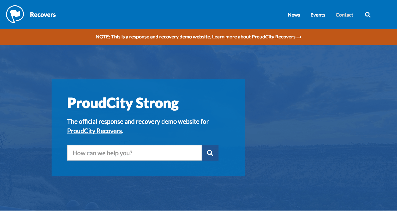 ProudCity Recovers demo