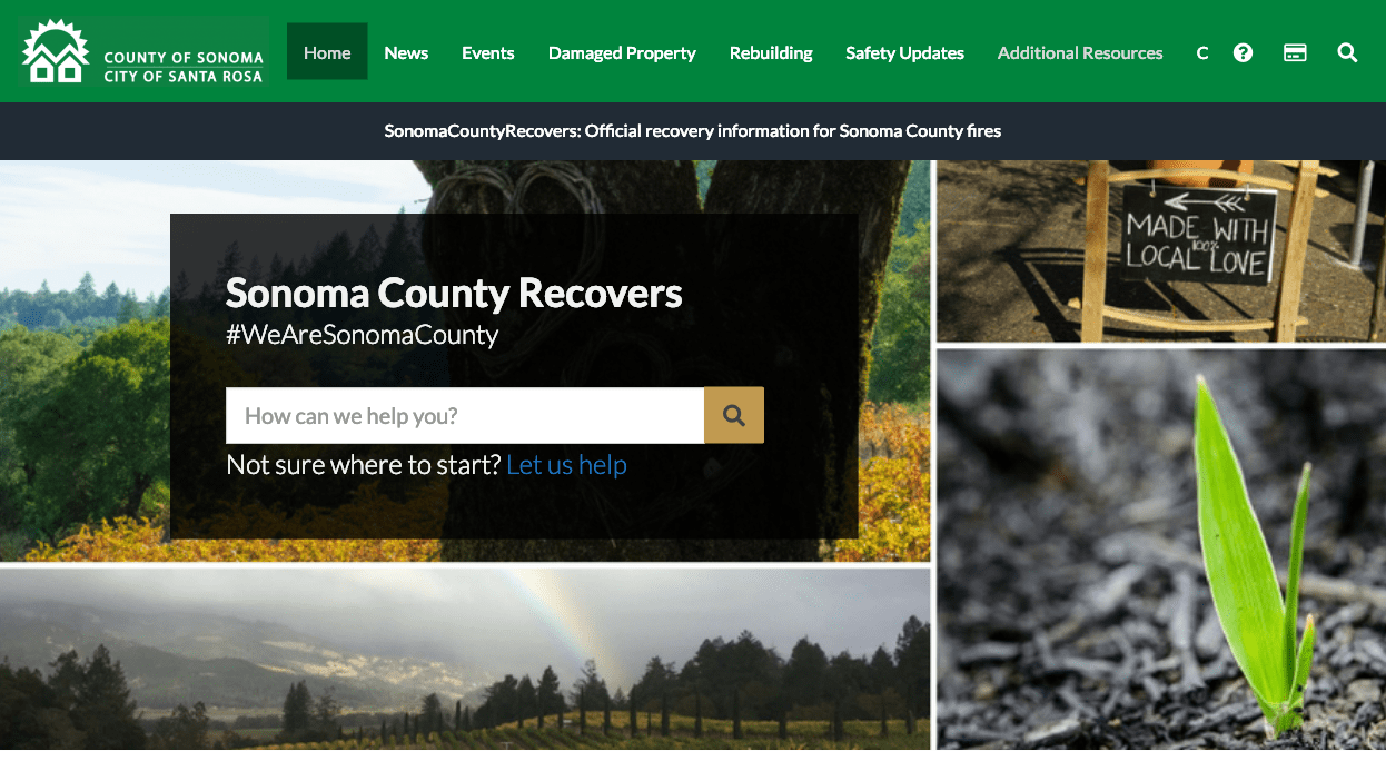 Sonoma County Recovers