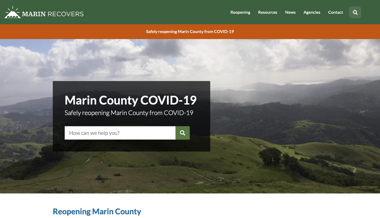 Marin County Recovers