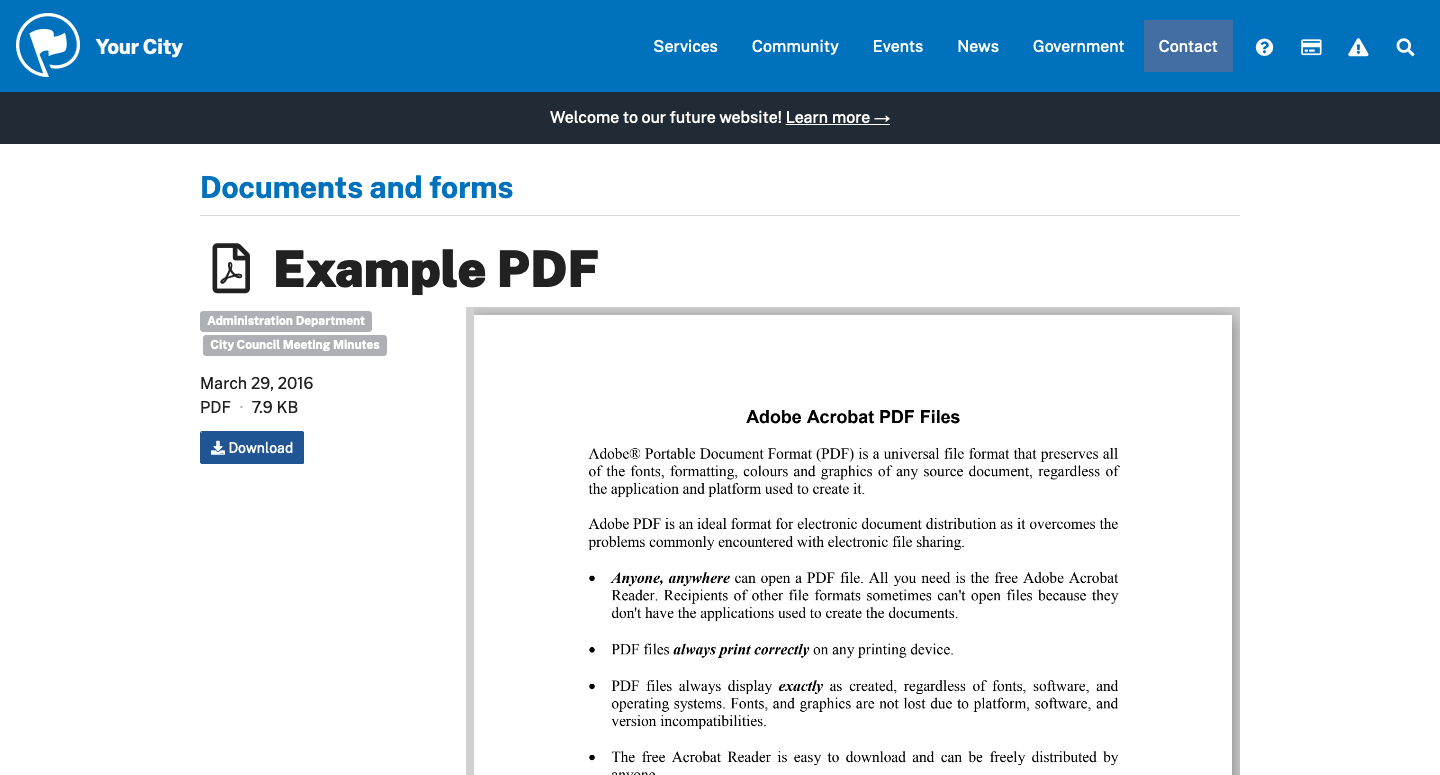 Example document page