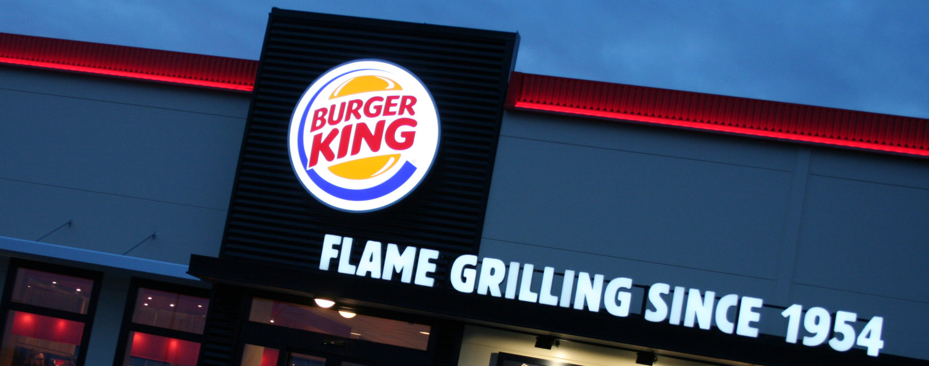 Fasaden på Burger King i Skövde