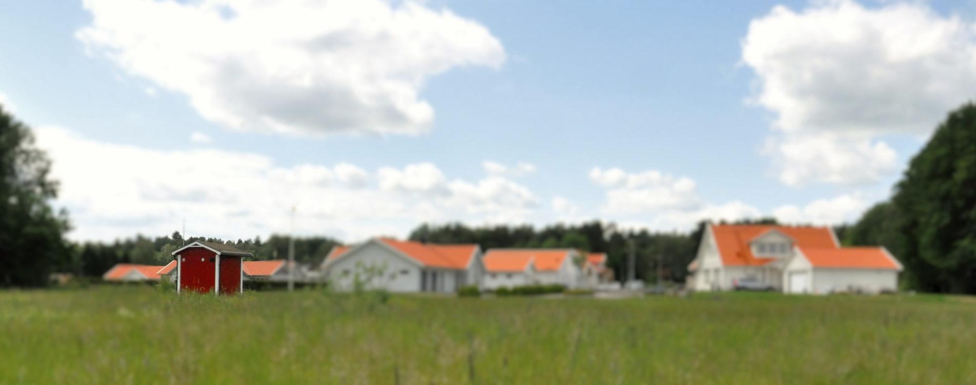 Pumphus från Provektor i bostadsområde