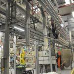 Fördelning. Fabriksbild på RPC Superfos