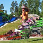 Bild på hela Snakepit vattenrutschbana på Skara Sommarland