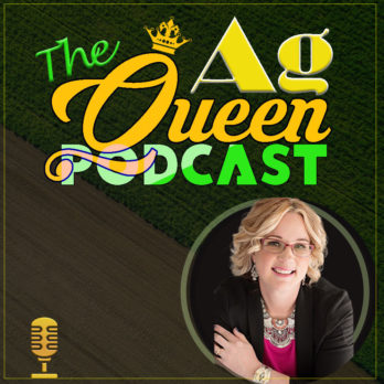 The ag queen podcast cover logo