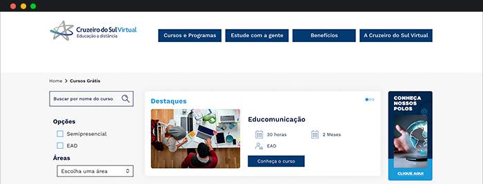 Cursos Online Gratuitos Com Certificado Cruzeiro do Sul Virtual