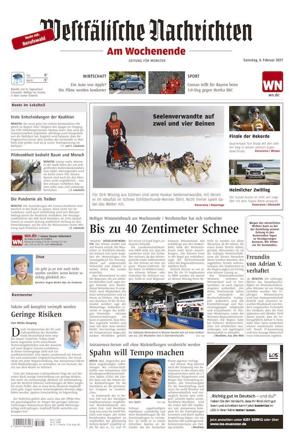Eine einzelne Zeitung