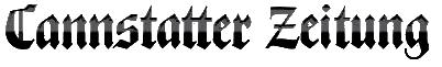 Logo der Zeitung Cannstatter Zeitung