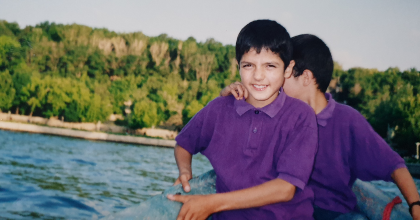 Arvin Morattab as a child