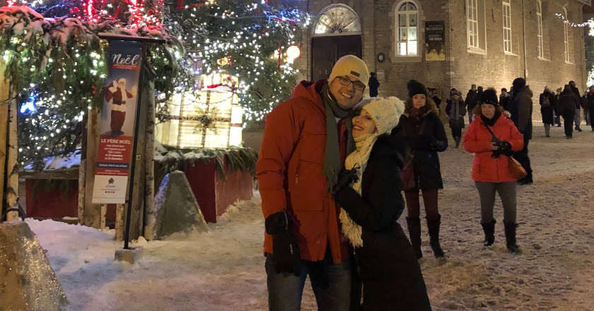 Aida Farzaneh spending christmas with her husband, Arvin Morattab