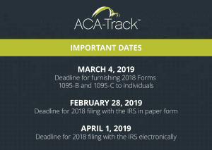 aca reporting 1095 deadline 2018