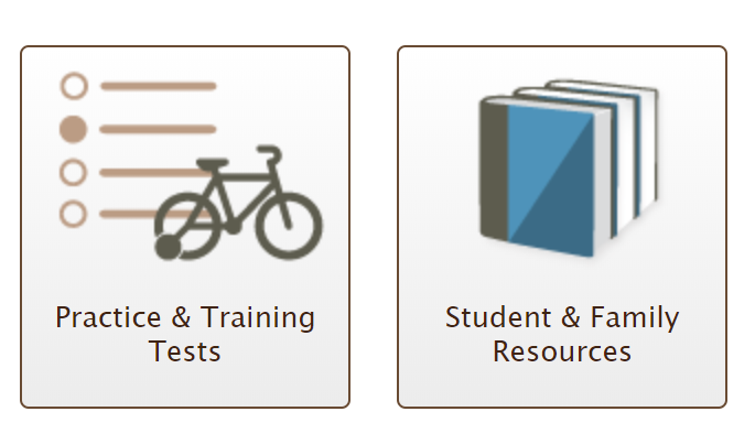 Practice and Training Tests, Student and Family Resources